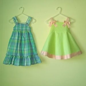 2 Baby Girl Size 12 Month Dresses